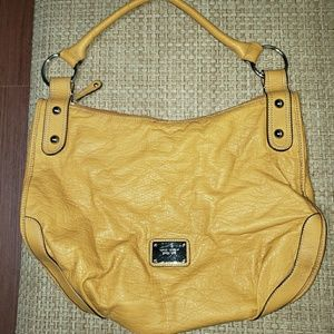 Nine West Mustard Yellow Hobo Style Bag